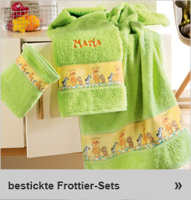 bestickte Frottier-Sets